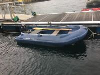 Boat - Pioner 320 for sale. Safe stable boat.Make a great yacht tender. Comes with Mercury 8hp.
