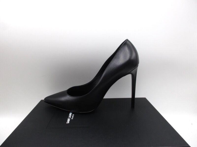 Saint Laurent YSL Paris 105 Skinny Classic Pumps Shoes Black 345 45