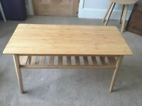 Ikea bamboo coffee table- perfect condition