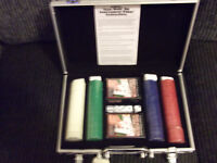 Deluxe Poker Set Including Aluminum Case ( Brand New )