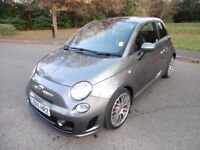 Abarth 595 1.4 16v T LOOK @ THE MILEAGE ONLY 90 MILES FROM NEW (record grey metallic) 2016