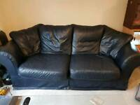 FREE!!! 3 Seater Dark Blue Leather Sofa