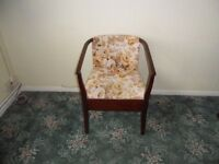 Commode/chair - fabric covered - floral design