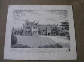 Athelhampton House Dorset Unframed Vintage Print Weymouth