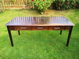 Solid oak vintage / antique kitchen / dining table £150