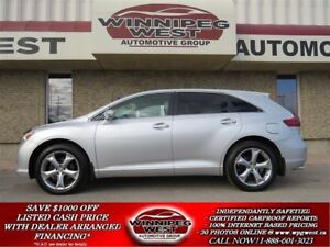 2013 Toyota Venza V6 AWD PREMIUM, HTD LEATHER, PAN ROOF,LOW LOW
