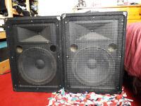 Yamaha 250 Watt RMS passive speakers S12e