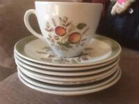 8 cup and saucer set. Hereford' by Alfred Meakin