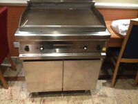 Gico Commercial Kitchen Hot Plate & Cupboard - Industrial