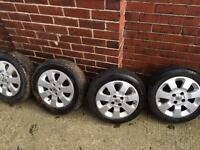 Vauxhall Corsa SXI 15 inch alloys and tyres