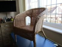 SMALL WICKER CHAIR IDEAL FOR DOLLS OR SMALL CHILDREN
