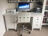 Ikea Hemnes Study Desk & Cabinet Book