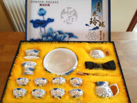 Chinese tea set, immaculate condition, complete and with original packaging