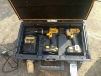 DeWalt combi drill set