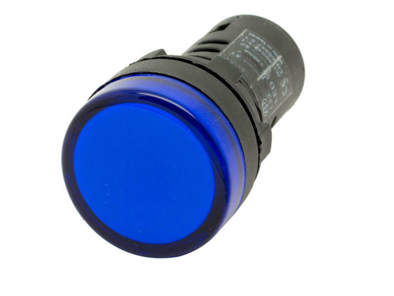L22 ATI Blue LED Pilot Panel Indicator Light 22mm 110V 120V AC