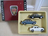 3 model Rover toy cars.