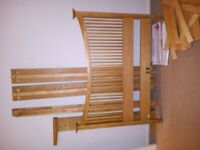 USED John Lewis Oak KING Size Bed Frame with FREE Mattress