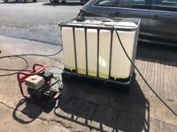 Mobile jet wash pressure washer