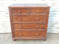Unique Welsh Pine Antique Brown Chunky Large Chest of Drawers x 2 available (Delivery)