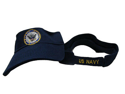 US Navy Seal Emblem Crest logo Visor Cap Hat Dark Blue