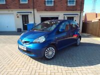 Toyota Aygo blue 1.0 vvti 08 plate mot,d till 02/01/19 in very good condition £2150 ono