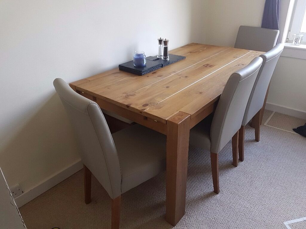 NEXT Extending Dining Table Bench 4 Chairs