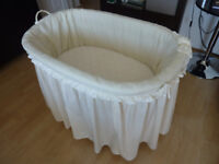 Large Moses basket on wheels with comfy mattress - URGENT SALE!