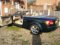 Audi A4 2005 Convertible 1.8t 5speed 163BHP