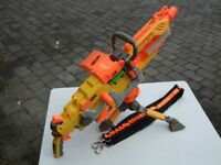 """NERF """"HAVOC"""" AUTOMATIC MACHINE GUN with BULLETS, AMMO BELT - NEW Batteries - FULLY WORKING"""