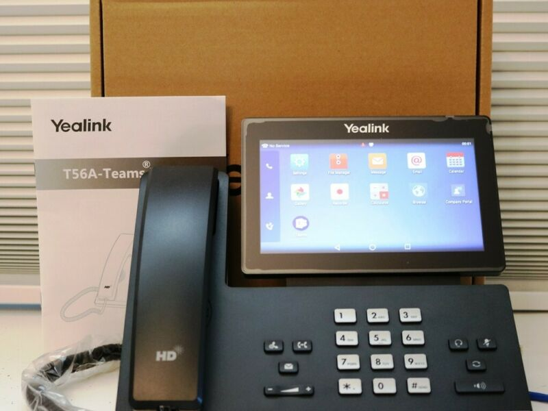 New in Box Yealink sip-T56A  HD Android Video Phone without Camera