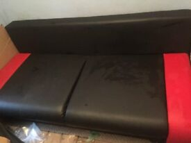 red and black sofabed
