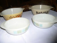 Two Casserole Dishes plus Two JAJ Soup Dishes