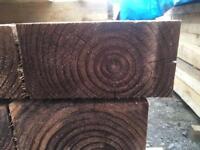 🦔 WOODEN BROWN PRESSURE TREATED WOODEN RAILWAY SLEEPERS ~ NEW