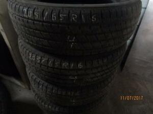 205/65R16 SET OF 4 USED BRIDGESTONE TURANZA ALL SEASON TIRES