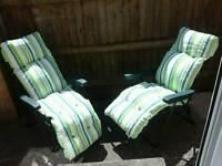 2 in Number Garden Chairs / Sun Loungers