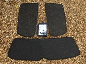 Genuine VW Golf MK6 5dr Rear and Side Window Fitted Sunblinds Sun Shades