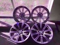 Bmw M3 Genuine Original Staggered Alloys Fronts 8.5j Rears 9.5j Can Sell Singles Can Post
