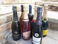 9 bottles wine
