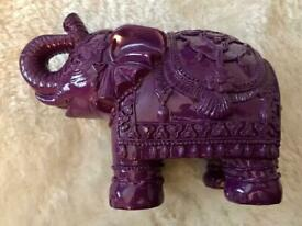 'Paperchase' Purple Elephant Money Box *VGC*