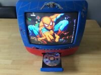 Spider man portable TV with built in DVD Player