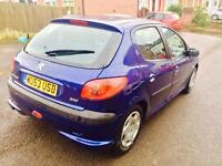 Peugeot 206 1.0 8 month mot 12 month tax only £30 a year £550 lady owner