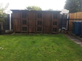 rabbit hutch block of 9 hutches for sale due to time wasters !! Open to sensible offers !!