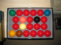 full size snooker balls
