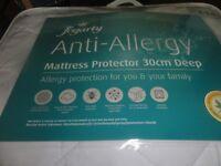 Single New New Fogarty 30cm deep Ant-Allergy Mattress Protector