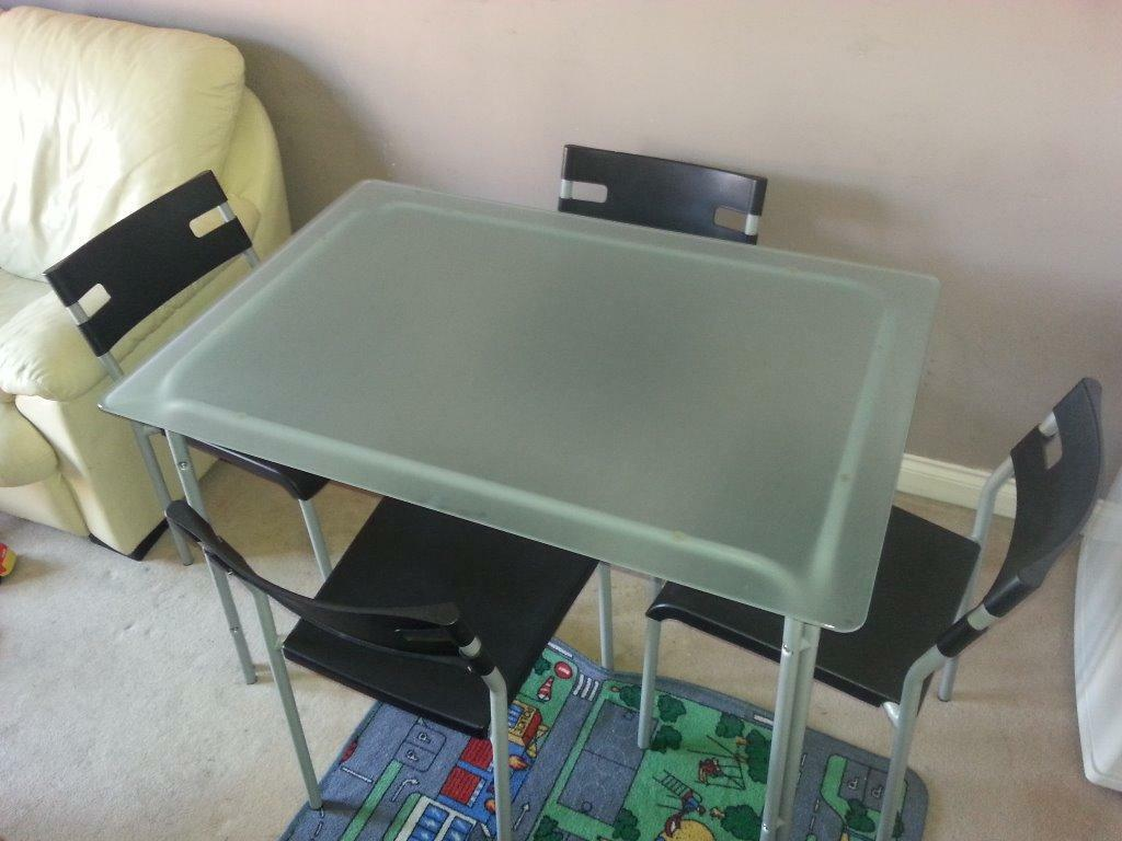 Ikea glass table with 4 chairs Buy sale and trade ads : 86 from dealry.co.uk size 1024 x 768 jpeg 76kB