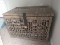 2x large wicker chests (Ikea) with matching baskets.