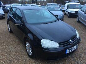 2005 VW VOLKSWAGEN GOLF 1.9 TDI SE BLACK 5DR HATCHBACK