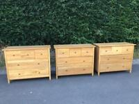 JB Global solid oak chest of drawers * free furniture delivery*
