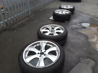 BMW X5 and RANGE ROVER alloy whells and tyres R22