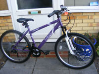 "LADIES 26"" WHEEL BIKE WITH FITTED LIGHTS 17"" FRAME IN GREAT WORKING CONDITION"